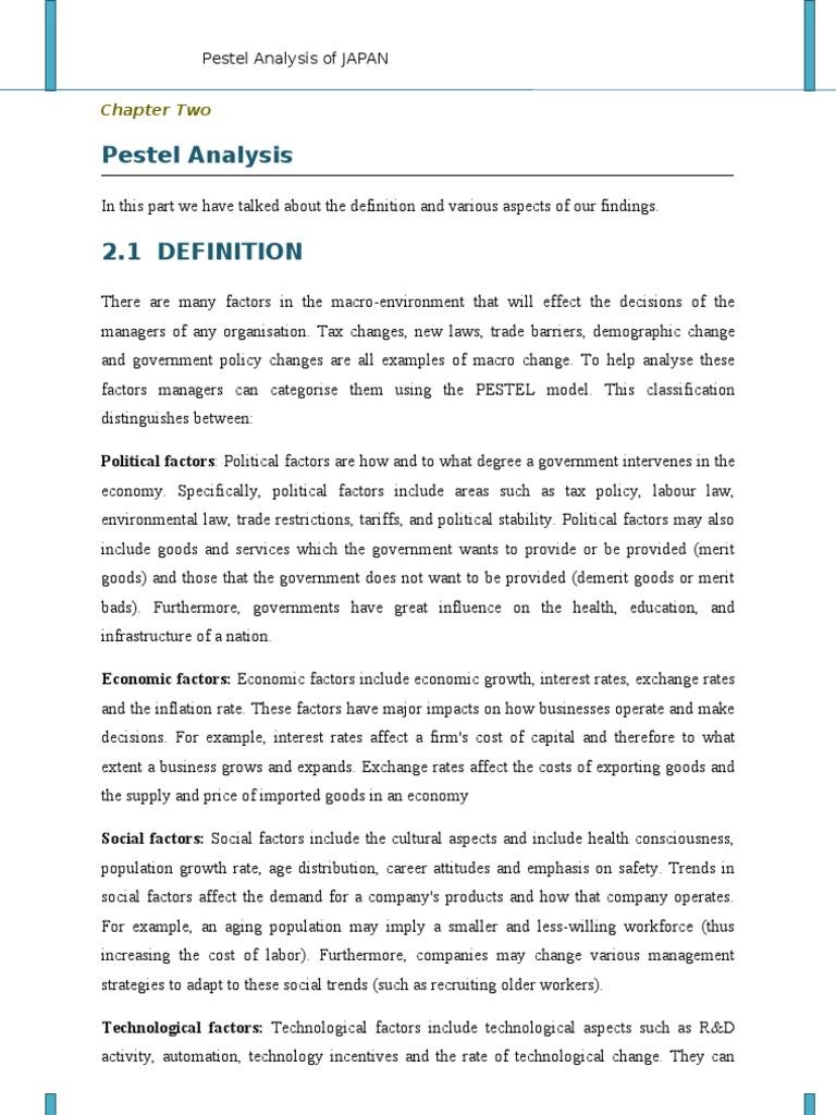 PESTEL Analysis Of JAPAN | Japan | Economies