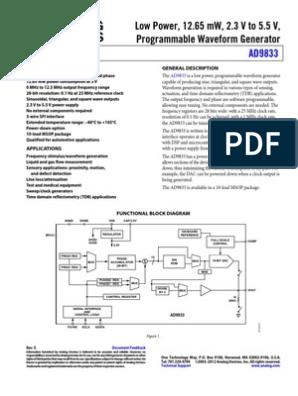 Low Power, 12 65 mW, 2 3 V to 5 5 V, Programmable Waveform