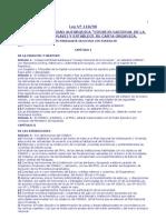 Ley 118 Del 90 Que Crea El Conavi y Su Carta Organica
