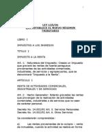 Ley 125 Nuevo Regimen Tributario