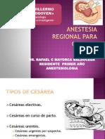 Anestesia PARTO Y CESAREA - Copia