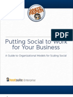 A Guide to Organizational Models for Scaling Social
