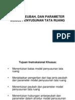 Batas Peubah Parameter Model Penyusunan Tata Ruang