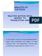 Relative Motion Wrt Translating Axes [Uyumluluk Modu]