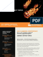 2013 Gaming Conference Brochure