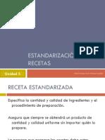 ESTANDARIZACIÓN DE RECETAS