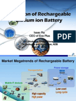 Evolution of Rechargeable Lithium Ion Battery - Isaac Ra