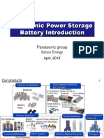 Introduction of Panasonic Batteries for Base Stations and Electric Vehicle Application - John Lee
