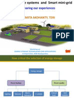 Battery Storage Systems and Smart Mini-grid - Sharing Our Experiences - Parimita Mohanty