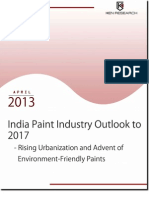 The India Paints industry to reach USD 12,430 million by 2017