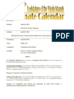VI Senate Calendar Weekending 4.12.13
