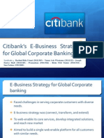 Citibank E-Business Strategy for Global Corporate Banking