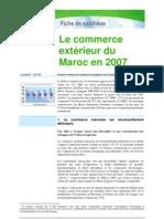 COMERCE EXTERIEUR DU MAROC EN 2007
