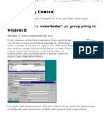"""How to """"Set users home folder"""" via group policy in Windows 8"""