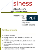 Sciquest.com B2B Market Place