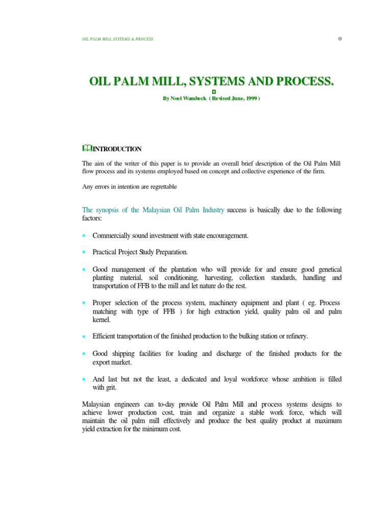 Oil palm mill system and process cogeneration steam nvjuhfo Image collections