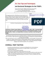 TOEFL Tips and Secret