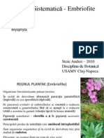Botanica Sistematica Bryofite BIO II 2010