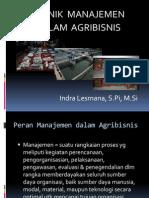 3. Teknik Manajemen Dalam Agribisnis