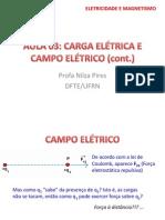 Campo Elétrico - Aula 3