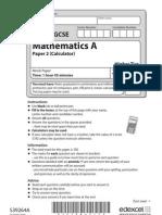 Edexcel GCSE Mathematics 1MA0 Mock Paper  2H