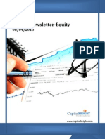 Weekly Equity Newsletter 08-04-2013