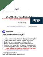 Disruptive Analysis WebRTC Overview April 2013