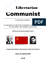 The Libertarian Communist No.22 Spring 2013