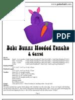Baby Bunny Hooded Poncho