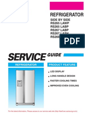 Samsung Side-By-side Refrigerator - Rs265 Series
