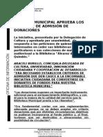 Nota Criterios Donaciones Biblioteca