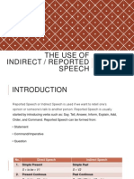 The Use of Reported Speech
