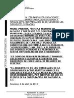 NOTA VACACIONES DE LA OPOSICIÓN EN SEMANA SANTA
