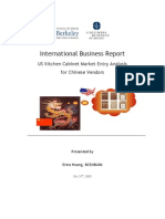 International Business Report US Kitchen Cabinet Market Entry Analysis For
