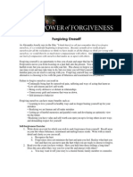 An Exercise in Forgiving Oneself