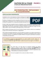 Fertilisation phosphatée, potassique et magnésienne