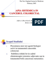 Terapia Sistemica in Cancerul Colorectal