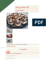 Muffin Com Gotas de Chocolate e Coco