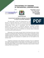 Press Release -Loliondo