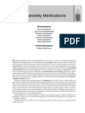 Anti Anxiety Medications   Benzodiazepine   Anxiety Disorder
