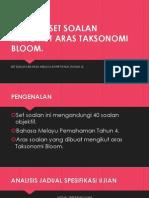 Analisis Set Soalan Mengikut Aras Taksonomi Bloom