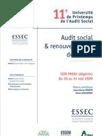 Audit Social Et Renouvellement de La GRH