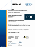 Zertifikat FTS ISO 27001 D
