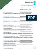 p Checkliste Erfolgsfaktoren