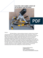 Design, Analysis and Fabrication of Klann Walking Mechanism-Abstract