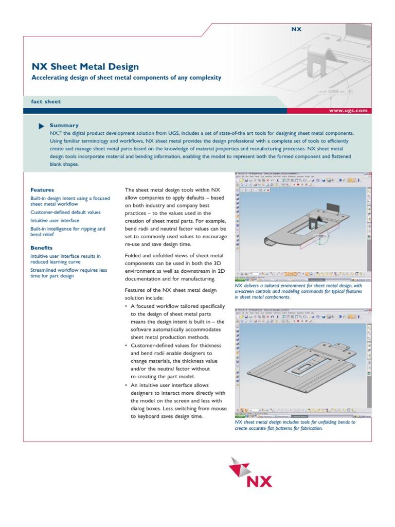 Nx sheet metal sheet metal 3 d modeling baditri Image collections