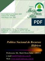10 10 2 Politica Nacional de Recursos Hidricos PNRH