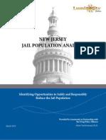 New Jersey Jail Population Analysis March 2013