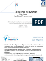 Reputation Due Diligence (French) www.sandstone.lu