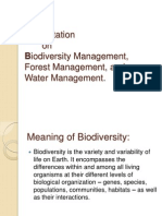 Presentation on biodiversity management,forest management, water management
